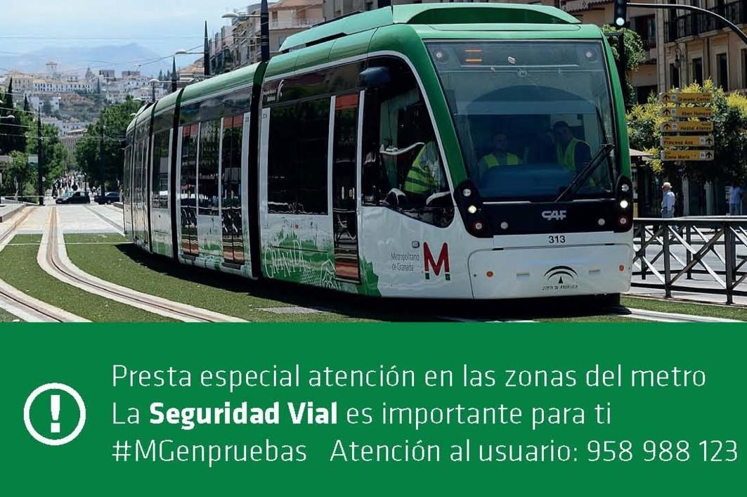 La campaña insiste sobre la necesidad de fomentar la seguridad vial en el metro.