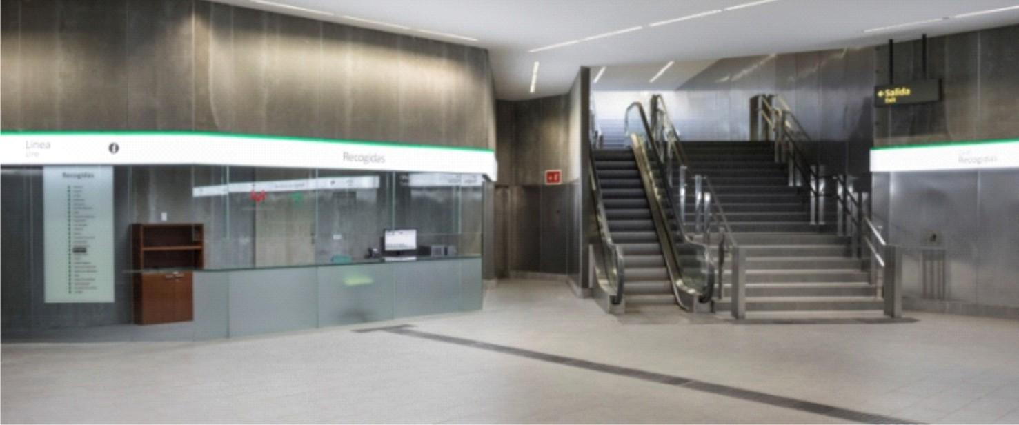 La Estación de Recogidas alberga la Oficina de Atención al Cliente de Metro de Granada.