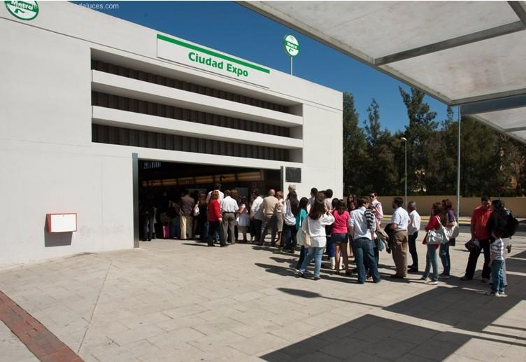 Una imagen de la Estación de Metro de Ciudad Expo en Mairena del Aljarafe.