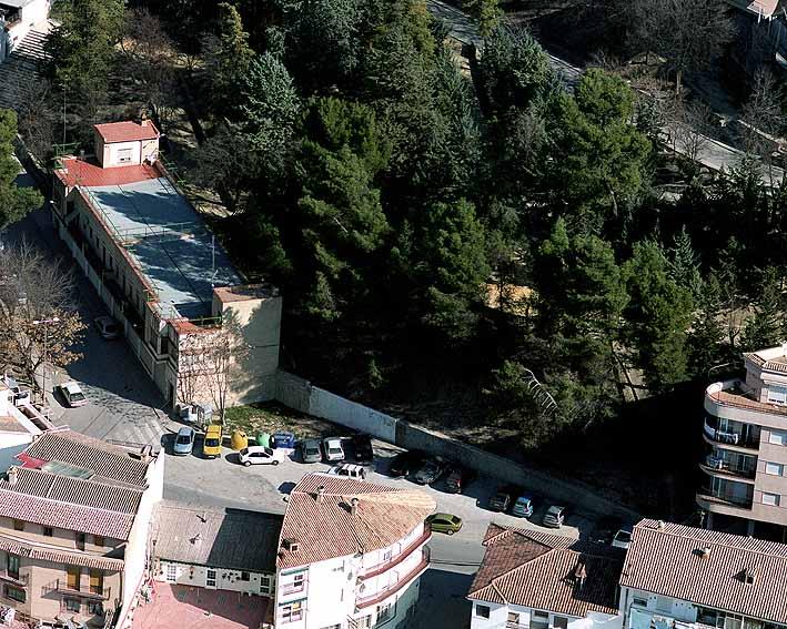Vista aérea de la parcela donde irá situada la nueva estación.