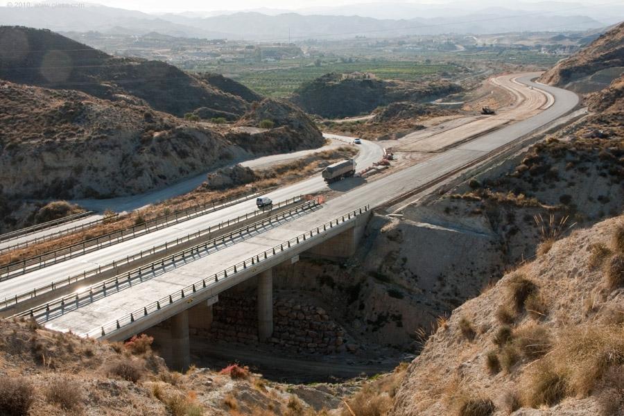 Obras en el tramo de Albox a El Cucador, en la Autovía del Almanzora.