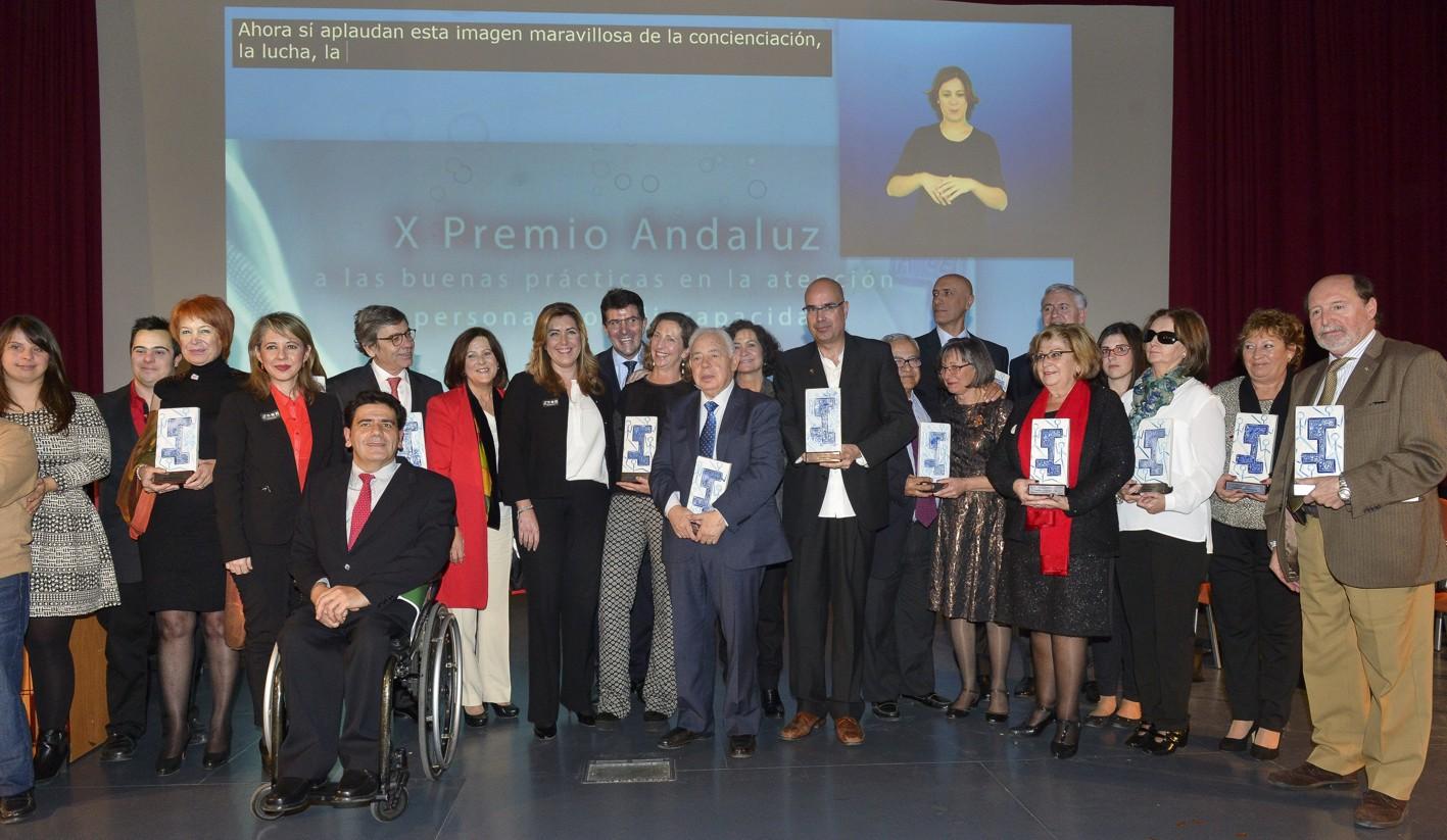 Premiados en la X edición del Premio Andaluz a las Buenas Prácticas en la Atención a Personas con Discapacidad.