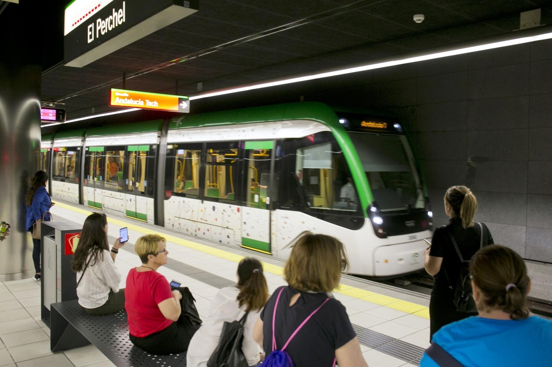 Los viajeros del metro de Málaga subieron en un 9% con respecto al año anterior.