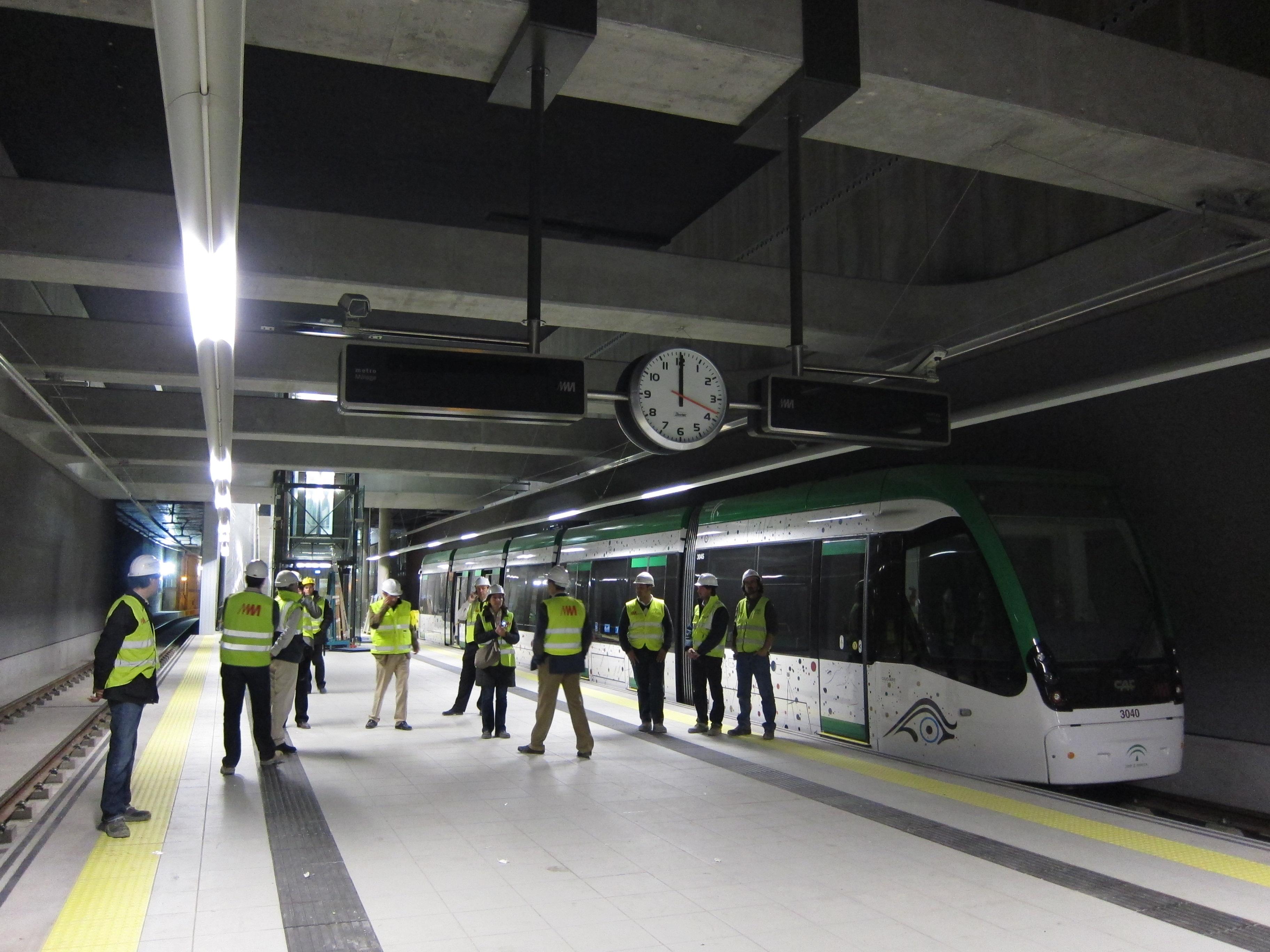 Imagen de la Estación El Torcal de la Línea 2 del Metro de Málaga