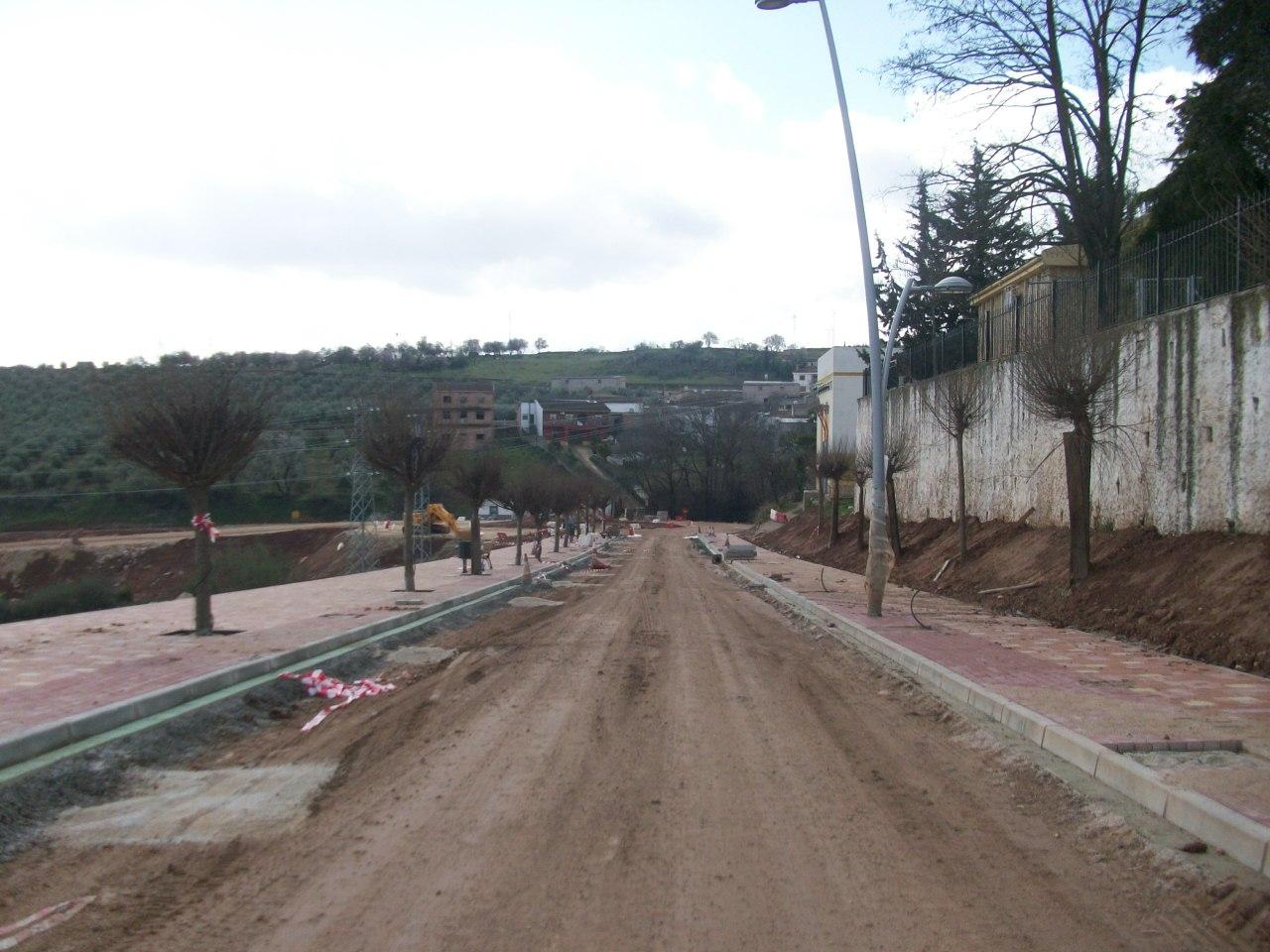 Las obras de la travesía de Sorihuela se encuentran en ejecución.