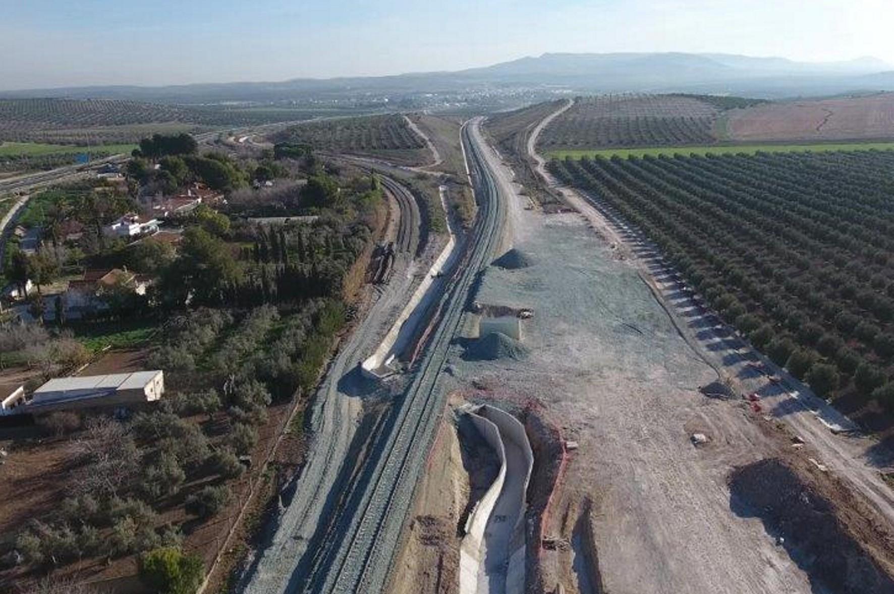 Vista aérea del tramo en variante en Aguadulce.
