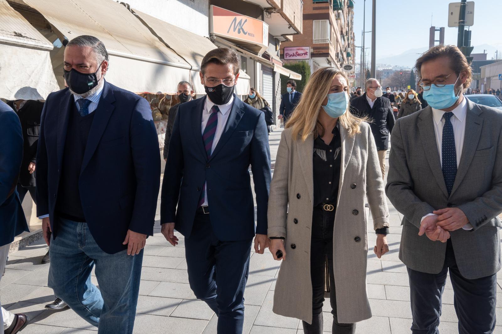 La consejera ha visitado hoy la remodelación del eje completo de Arabial-Palencia que supondrá una mejora fundamental del viario.