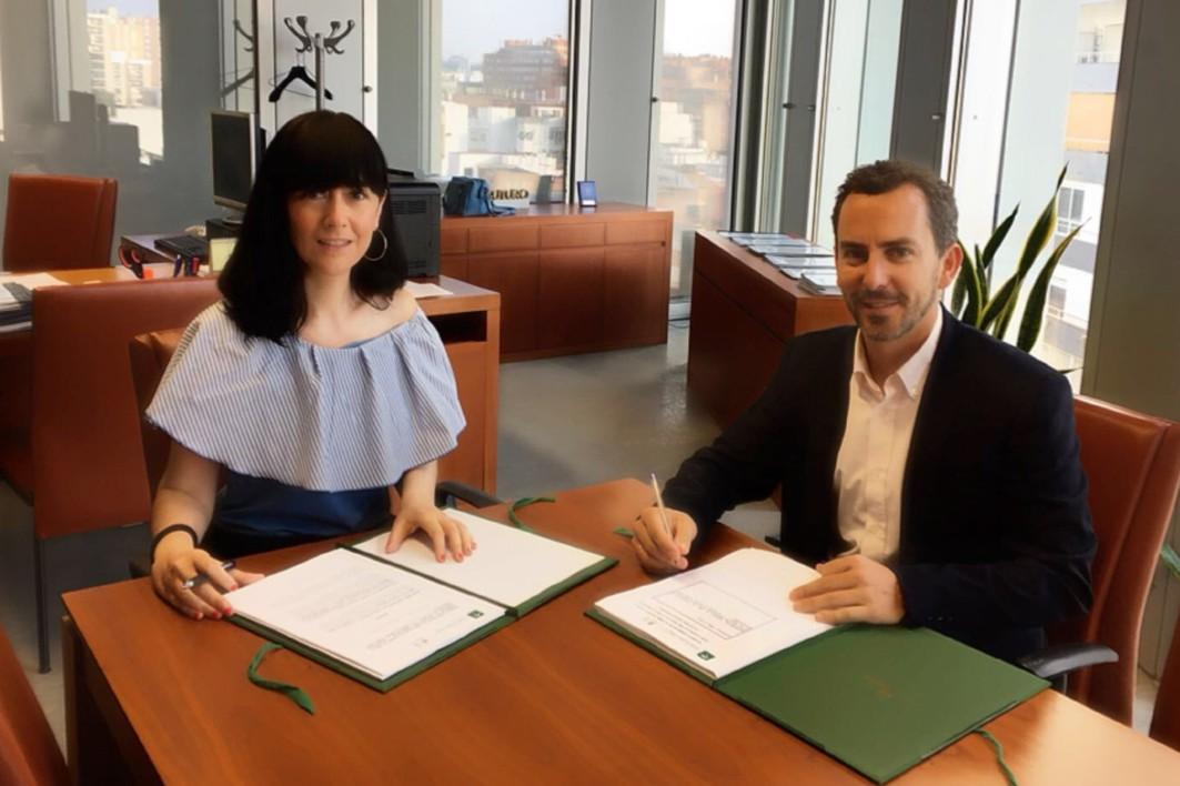Firma del contrato para continuar con las obras del tramo Renfe - Guadalmedina del metro de Málaga.