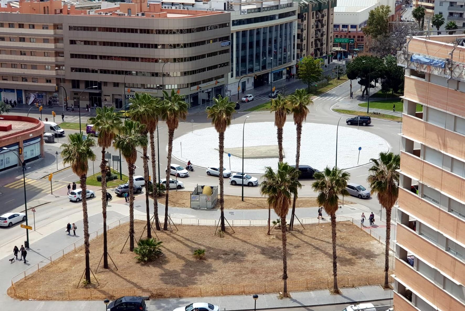 La Plaza de la Solidaridad de Málaga, vistas desde los edificios colindantes.