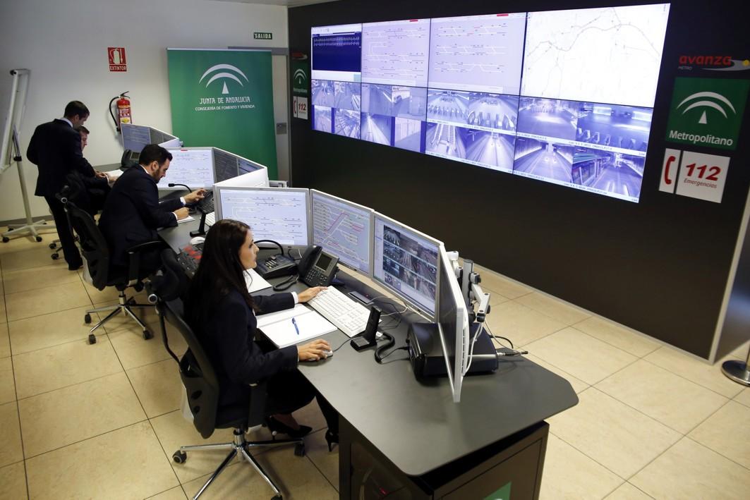 El Puesto de Control centraliza todas las imágenes de las cámaras de seguridad.