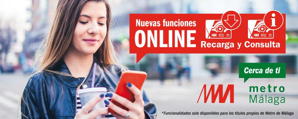 Los usuarios de metro de Málaga podrán recargar sus títulos vía móvil.