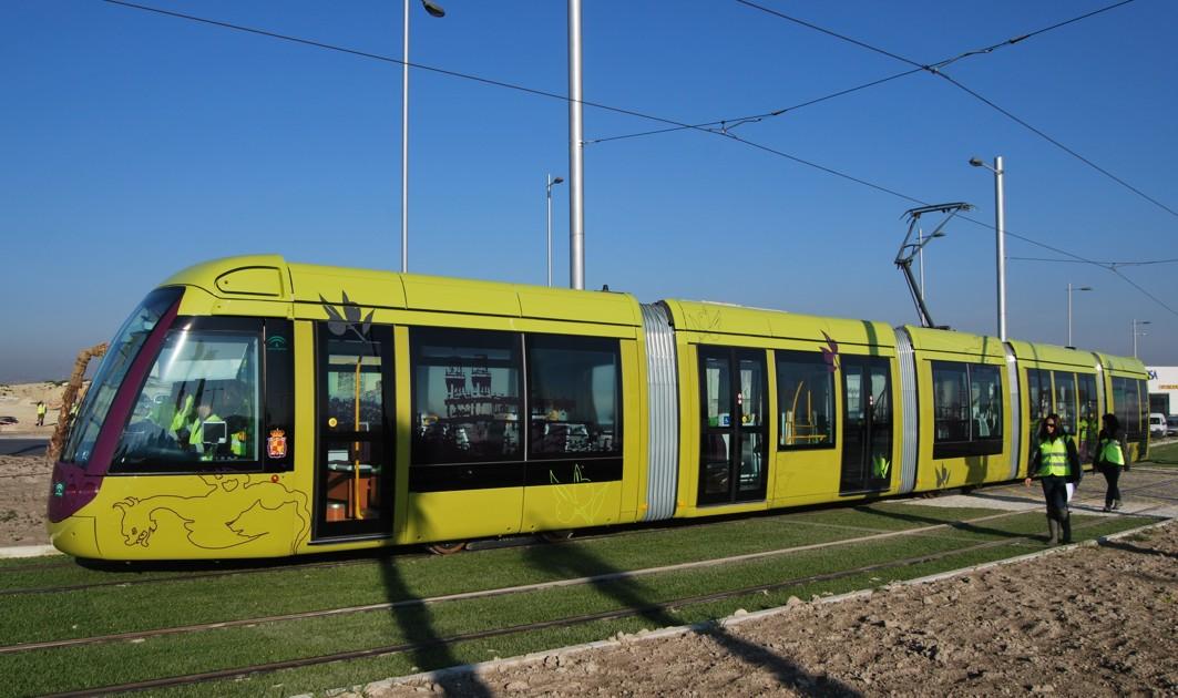 La construcción del sistema tranviario de Jaén se culminó en 2011.