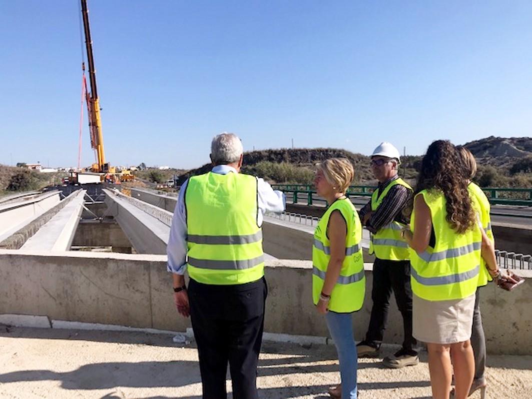 La delegada territorial de Fomento visitaa las obras de Vera - Garrucha.