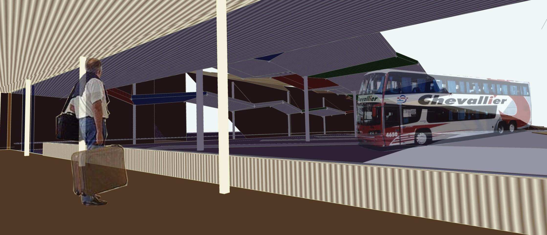 En la imagen, una infografía de la zona de andenes en la Estación de Autobuses.