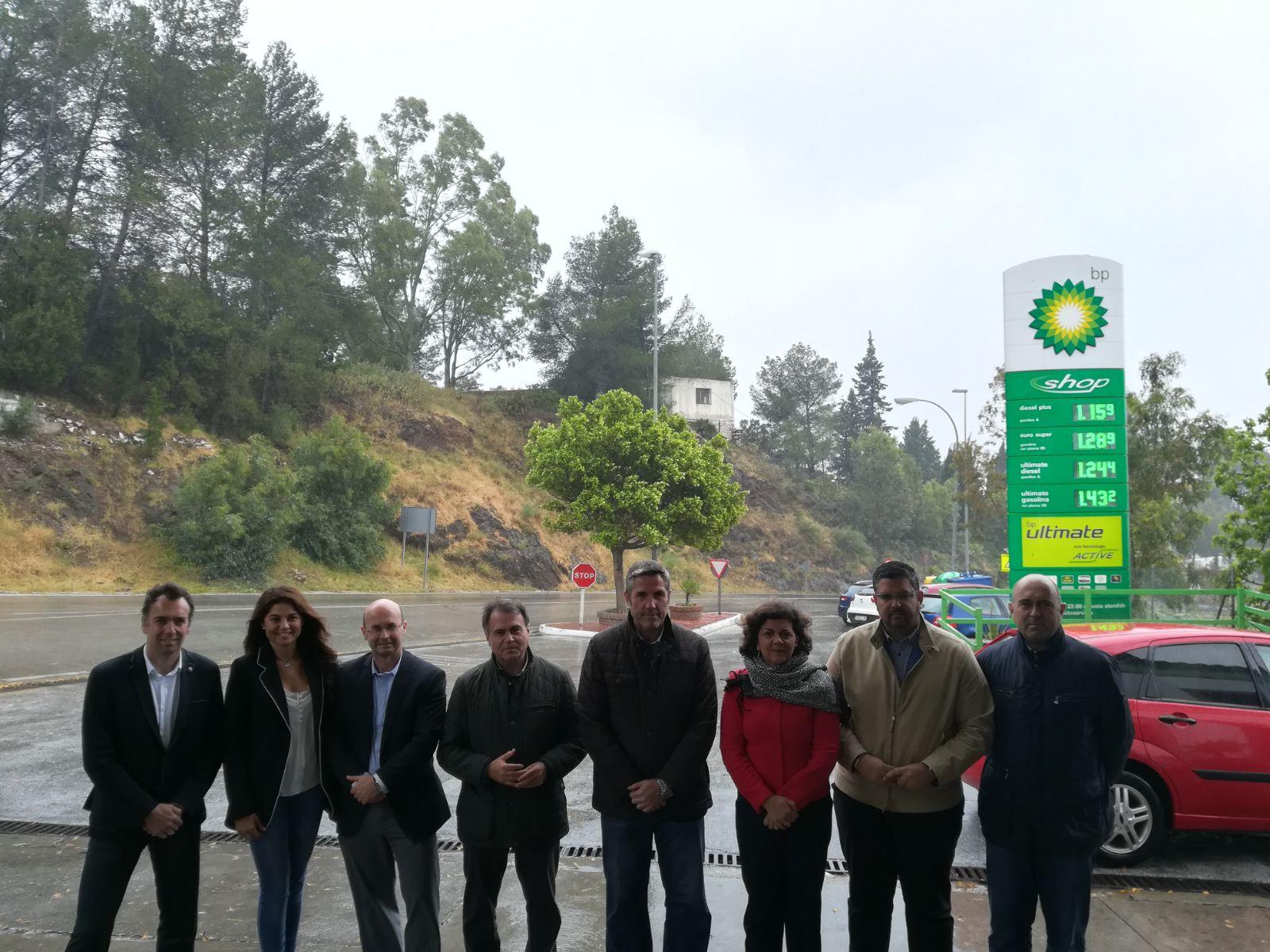 El delegado territorial ha efecutado una visita a la carretera A-387 una vez finalizada la actuación de emergencia.