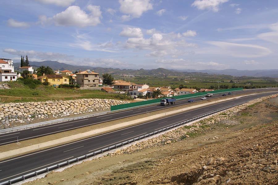 La futura variante conectará con la Autovía del Guadalhorce (en la fotografía) por el oeste del municipio de Cártama.