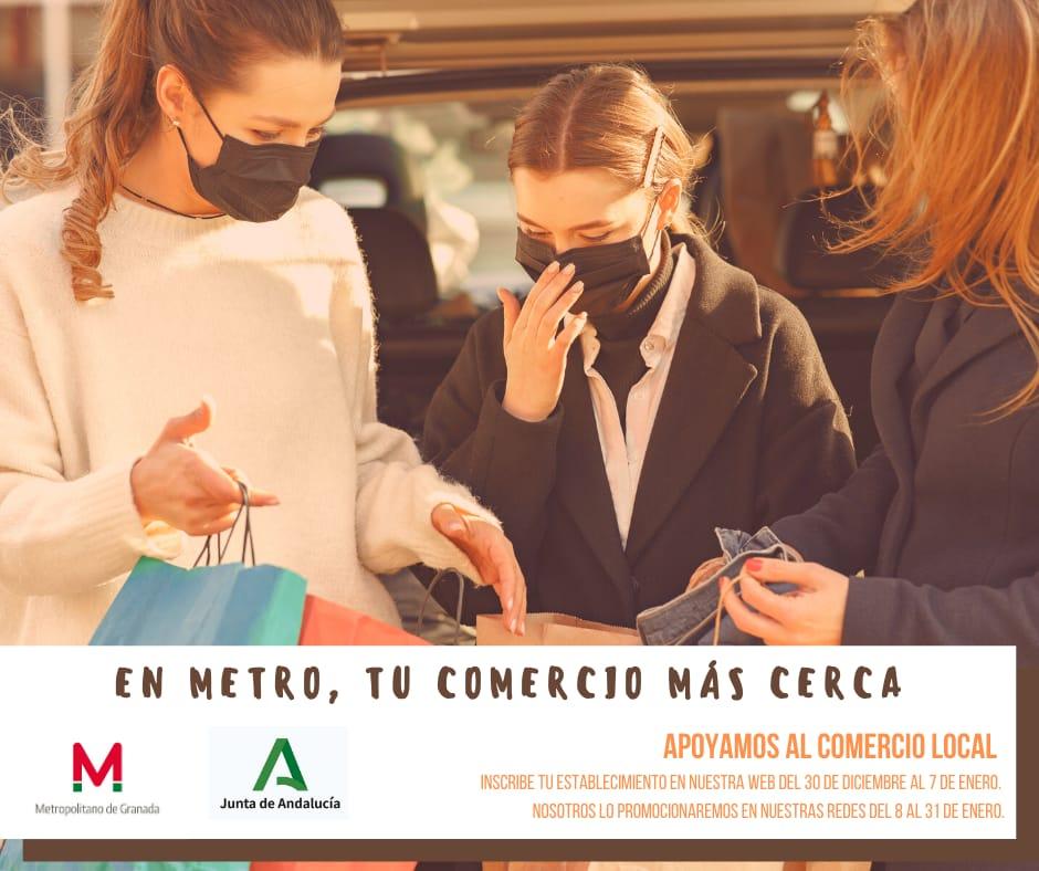 Metro de Granada inicia una campaña publicitaria para la promoción del comercio local