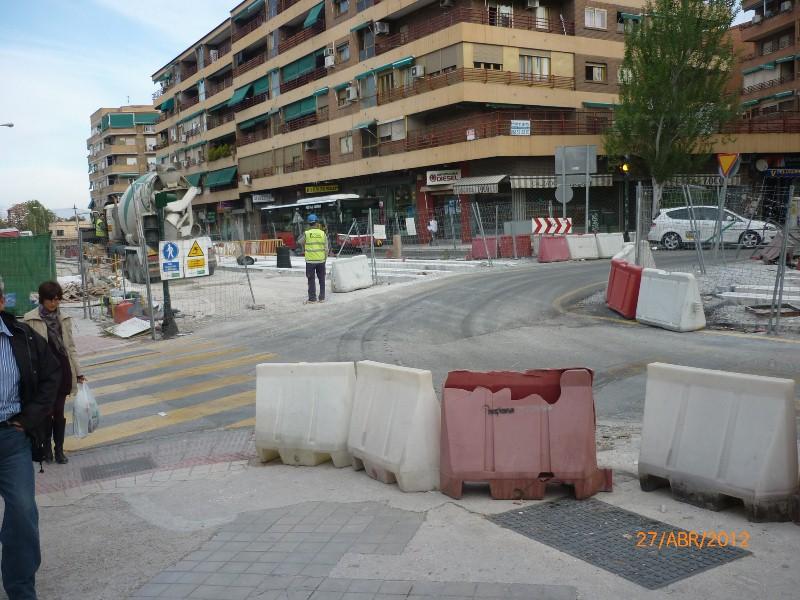 Imagen de la Calle Alondra de la capital granadina, donde se acometerá la intervención y la restricción al tráfico rodado.