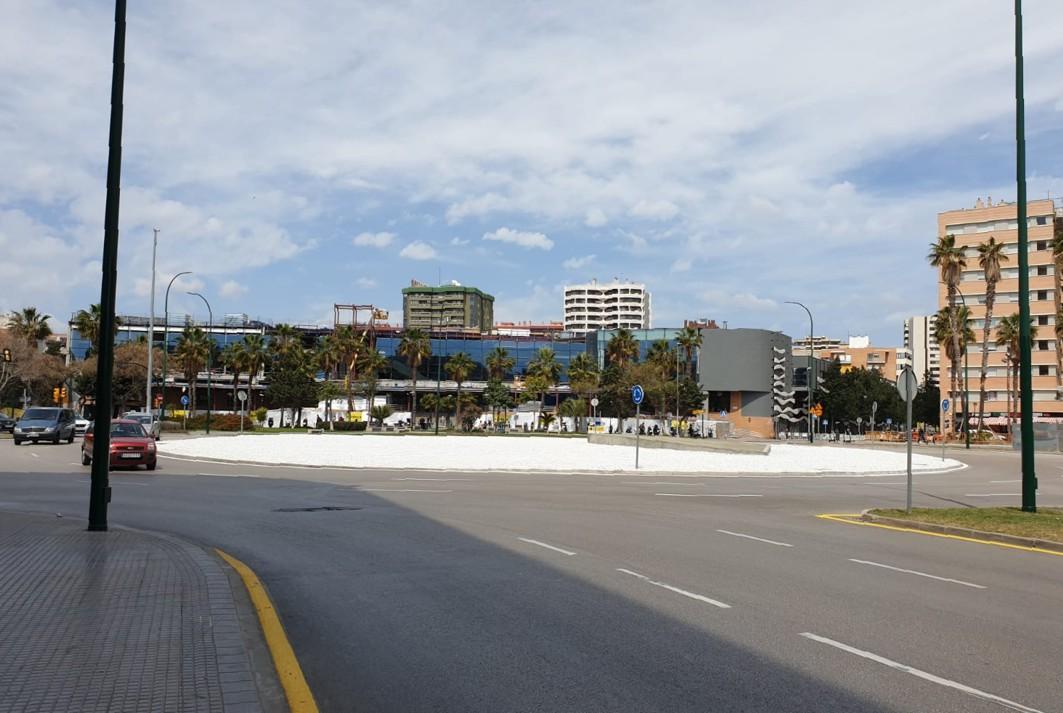 Vista de la Plaza de la Solidaridad de Málaga.