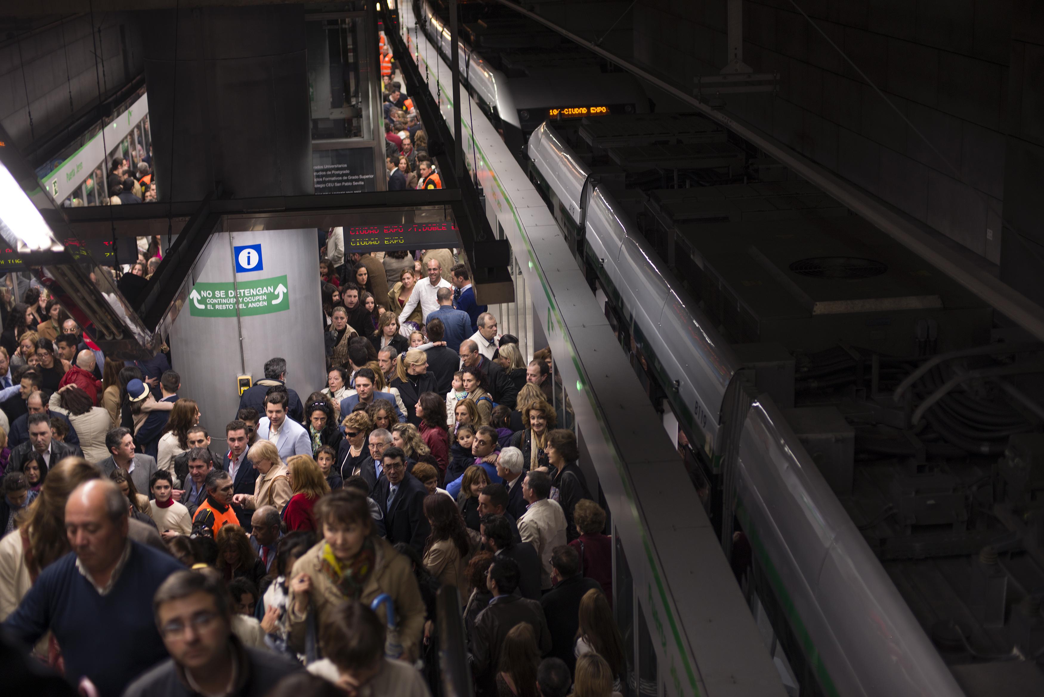 La estación de Puerta Jerez es la que registra una mayor afluencia de pasajeros de la Línea 1.