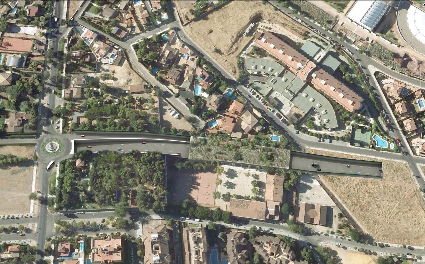 Imagen virtual de los ramales de la Avenida del Brillante.