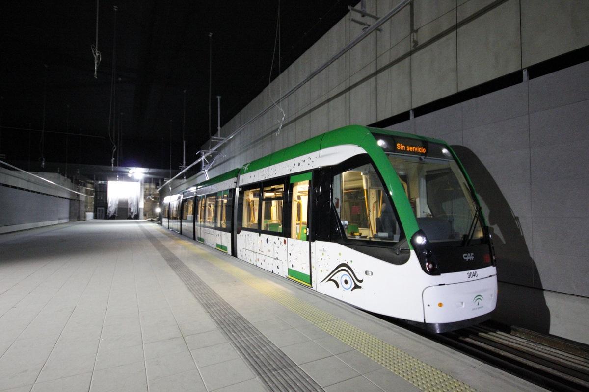 El Metro de Málaga inicio las primeras pruebas de circulación en la Línea 2 a finales de 2011