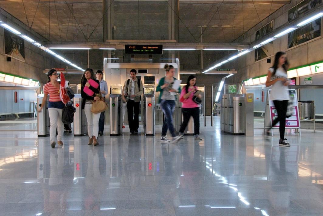 El Metro de Sevilla obtiene su mejor dato de demanda de usuarios.