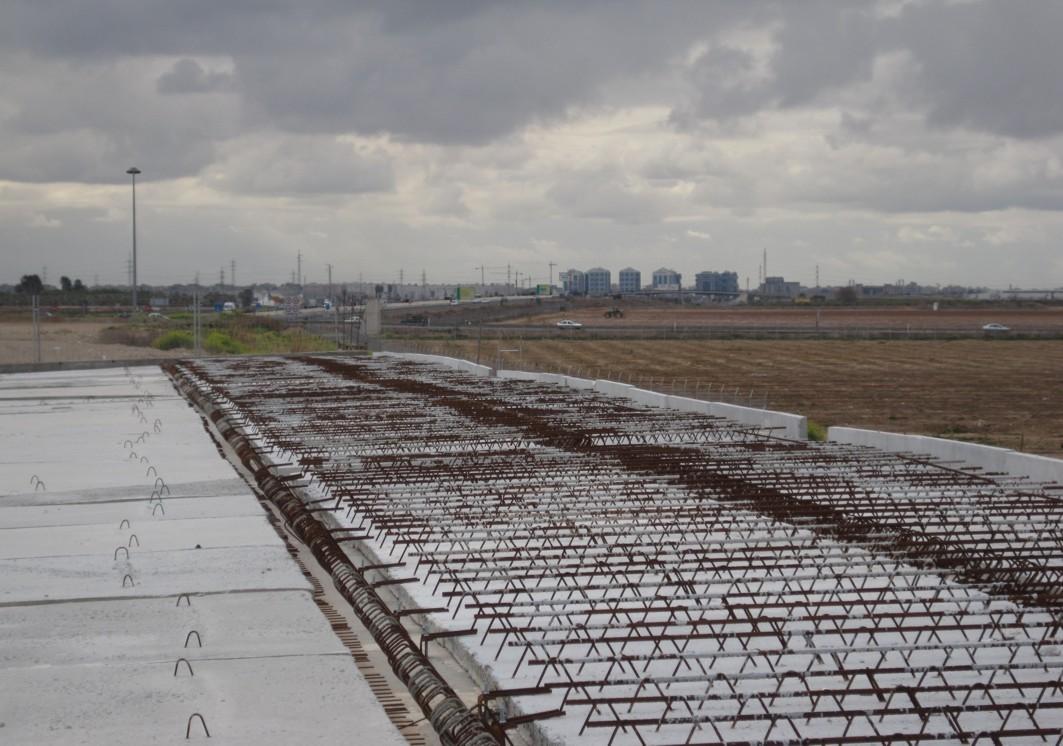 imagen de una de las estructuras de la segunda fase de este vial metropolitano
