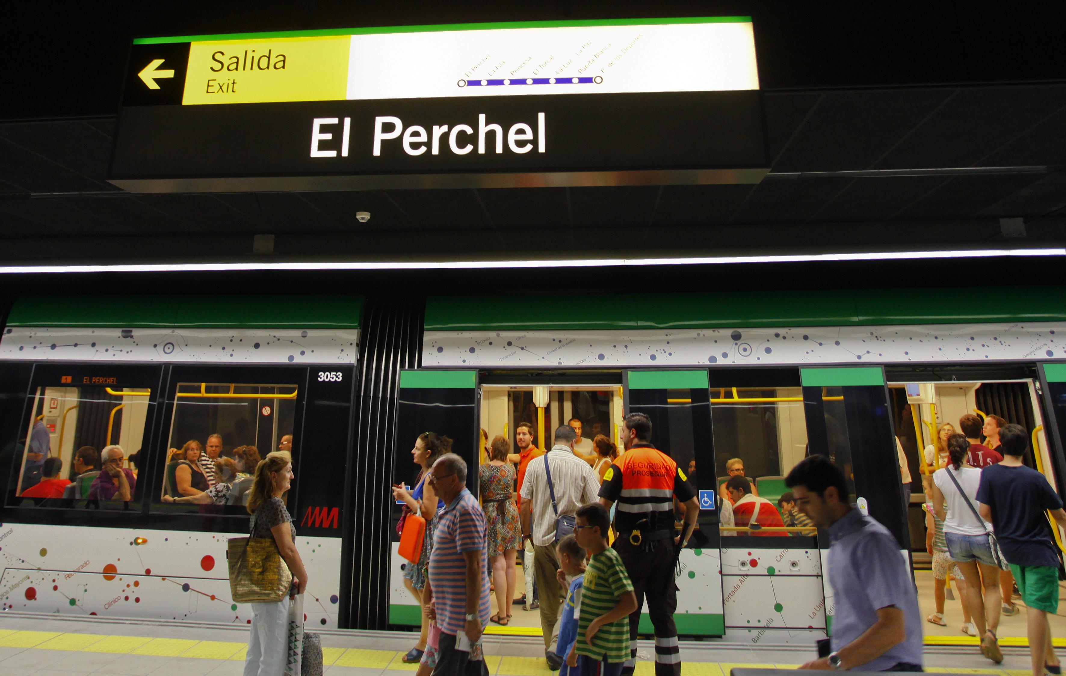 Perchel constituye la estación con mayor demanda de usuarios del Metro de Málaga.