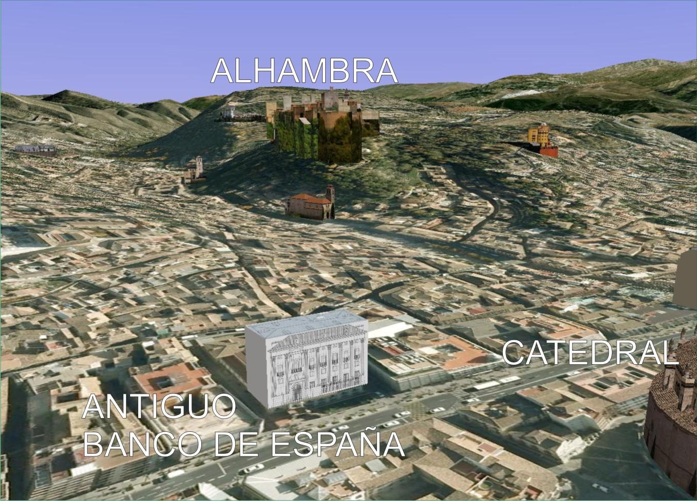 El edificio del Banco de España se encuentra ubicado en la Gran Vía, en plena zona céntrica de la ciudad.