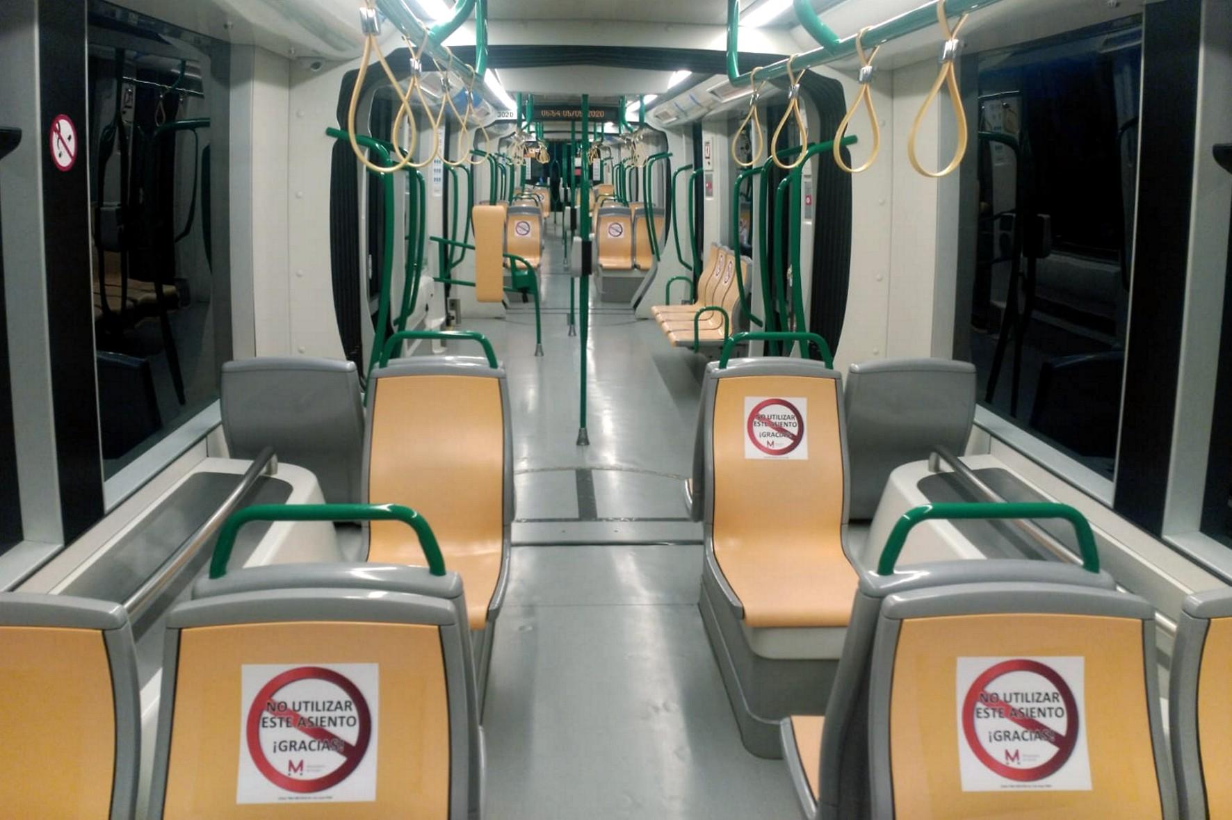 Los trenes circularán al 505 de su capacidad.