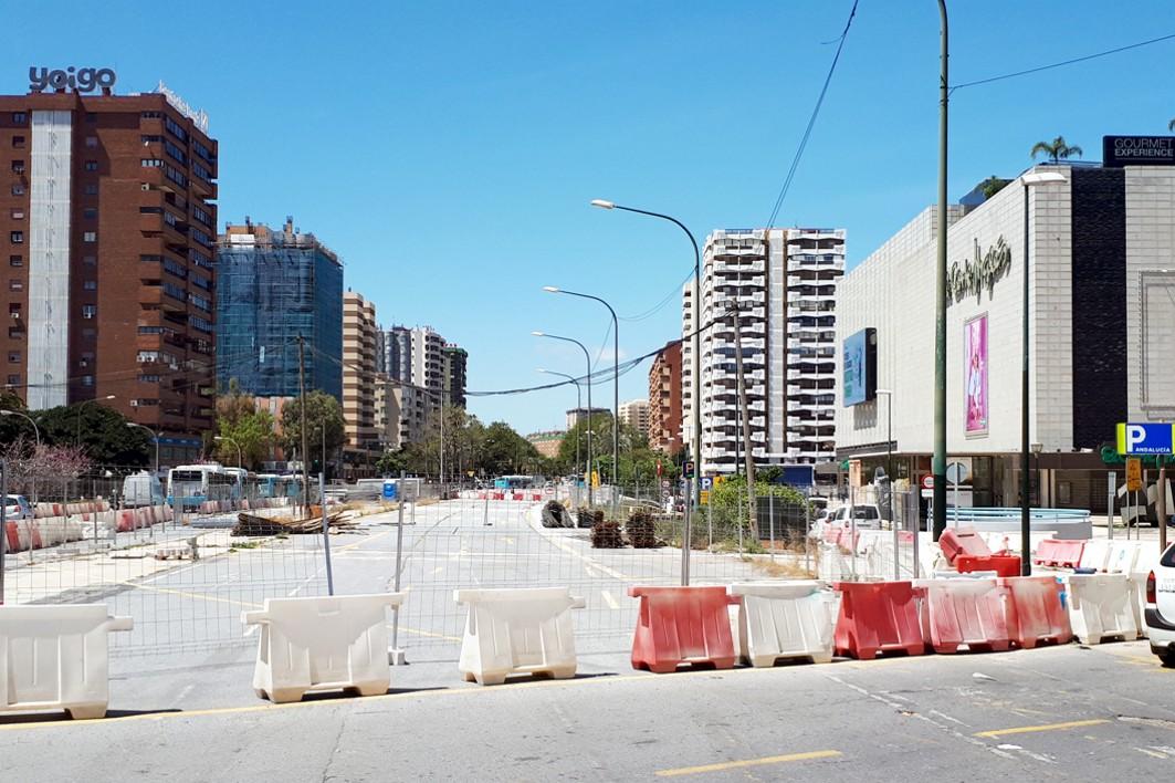 Los trabajos pendientes de ejecutar son los que se corresponden al paso por la Avenida de Andalucía.