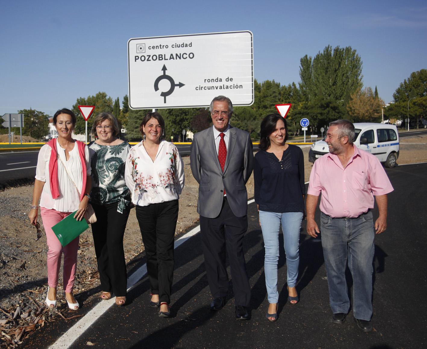 La consejera de Fomento ha visitado hoy la carretera, en la que se han invertido 10,13 millones de euros.