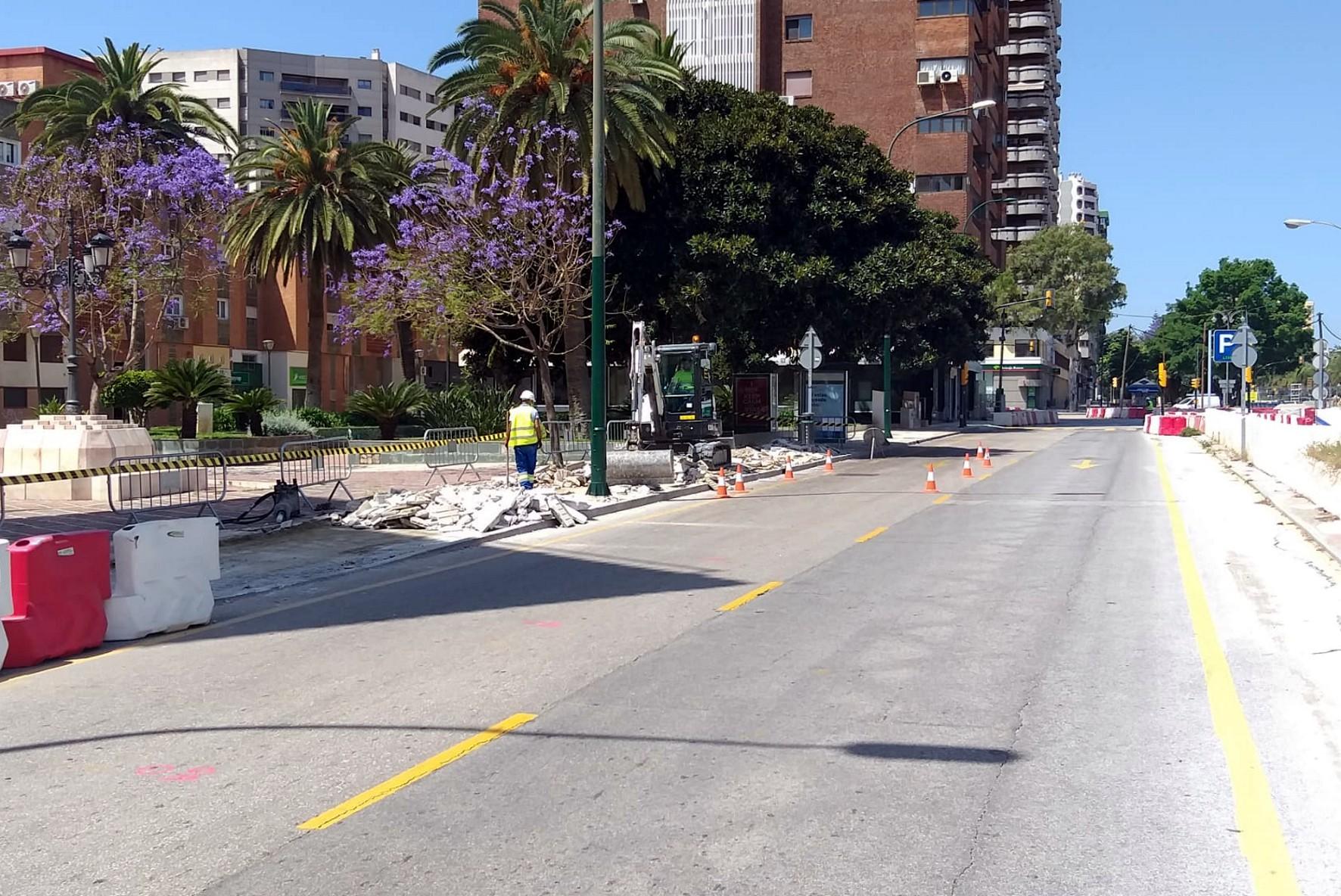 La zona del lateral sur de la avenida de Andalucía.