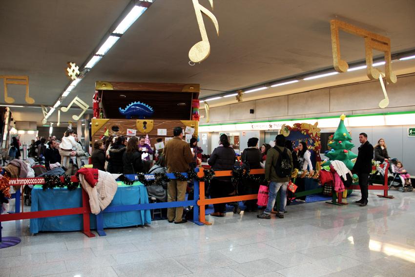 La Estación Puerta Jerez ha acogido actividades lúdicas para el público infantil durante la Navidad.