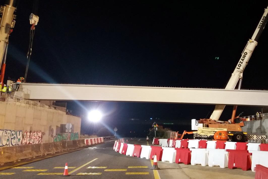 Se van a colocar las vigas horario nocturno con el fin de afectar lo menos posible a los usuarios de la carretera.