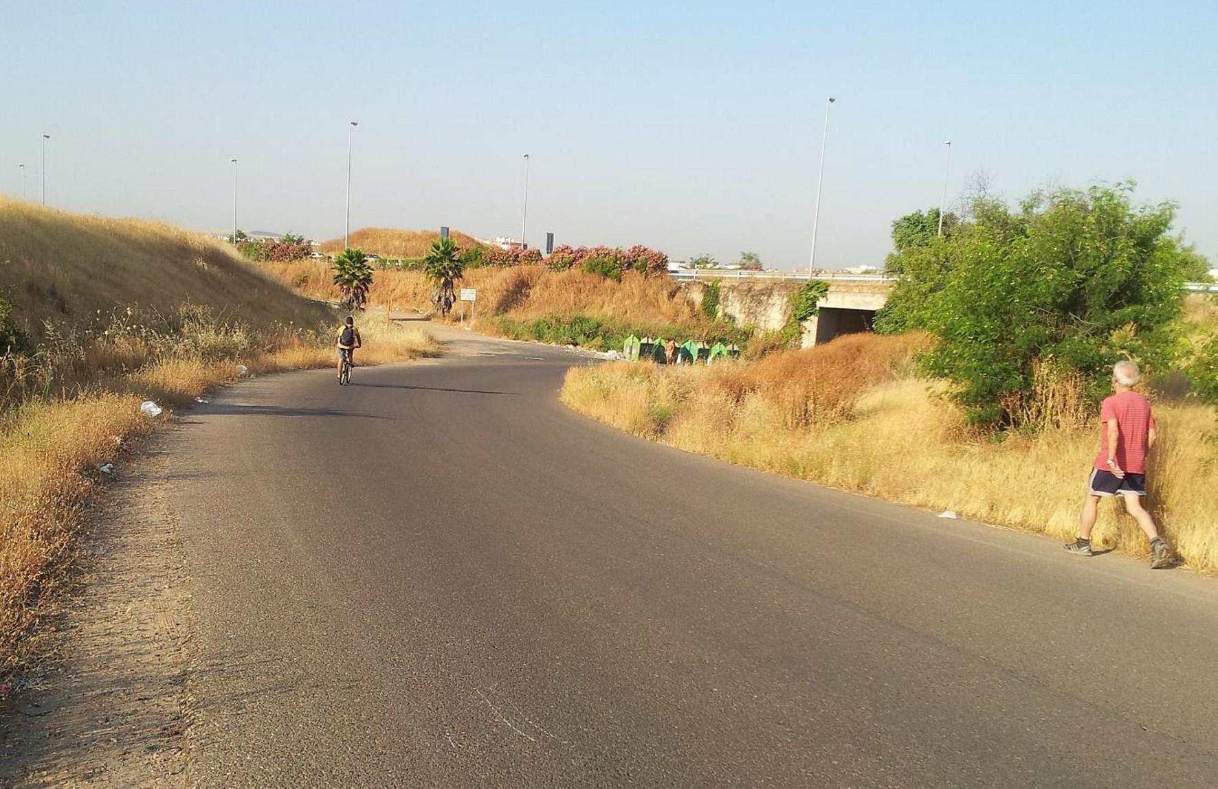 La nueva vía ciclista a Rabanales transcurre por la Vereda de la Alcaidía.