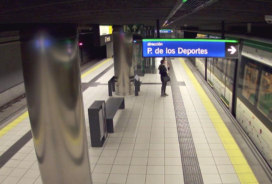El número de viajeros de metro de Málaga descendió en abril.