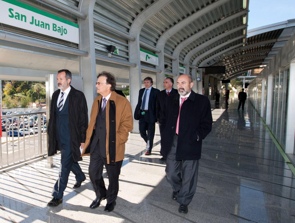 Visita del secretario ejecutivo del Metro de Panamá, Roberto Roy.